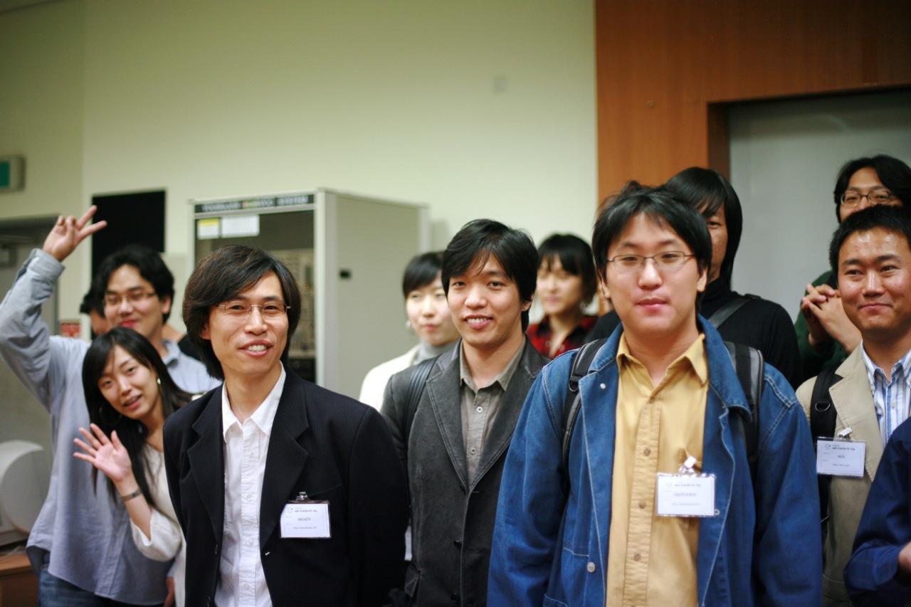 제 1회 CSS DESIGN KOREA 모임 단체사진찍기전 즐거운모습
